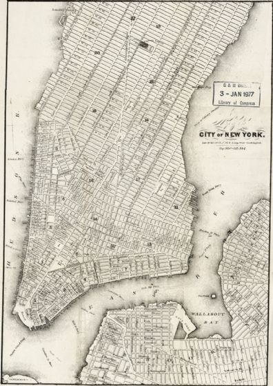 Map of the City Of New York 1860 Print/Poster (5203)